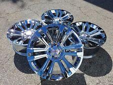 "22"" Fits GMC Denali Chrome Wheels Rims 2017 2018 Yukon Sierra Silverado Tahoe"