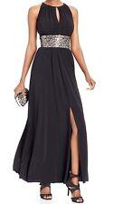 2821-2  R & M RICHARDS Beaded Waist Halter Gown Womens Dress 14 $119