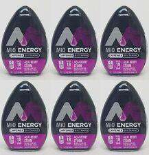 6 Mio Energy Liquid Water Enhancer ACAI BERRY STORM 108 Servings Total