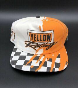 Vintage Tony Raines #19 Yellow Racing Team Adjustable Hat NASCAR Race Cap USA