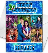 DESCENDANTS Personalised Christmas Card - Disney Descendants Christmas Card
