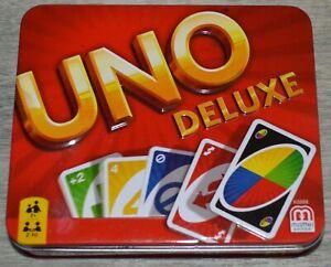 Uno Deluxe Card Game in Tin Metal Box