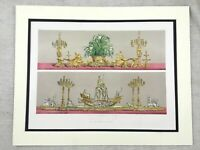 1862 Antique Print Christofle Silver Plated Table Centerpiece Chromolithograph