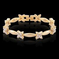 18 karat Armspange Armreif Goldkette 18cm  für Frauen Damen vergoldet Arm Kette