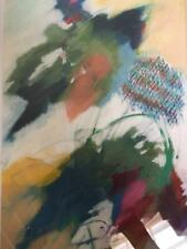 "CYNTHIA KNAPP: (Atlanta GA) ""Flying Colors"" Pastel Abstract Signed 1996 Framed"