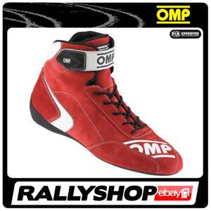 FIA OMP FIRST-S Fahrerschuh first s Fahr Rennen Professionell Motorsport Rot