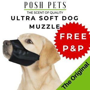 Adjustable STOP BARKING Anti Bark Soft Black Dog MUZZLE XS Small Medium Large XL