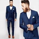 Custom Made Groomsmen Best Man Suit Wedding Men Groom Tuxedos Formal Party Wear