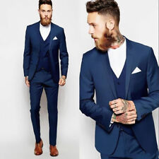 Custom Made Groomsmen Best Man Suit Wedding Men Groom Tuxedos Formal Party Wear