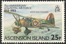 WWII WESTLAND LYSANDER Aircraft Stamp (RAF 75th Anniversary 1993 Ascension Isl.)