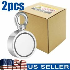 2pcs Fishing Magnet Kits Combined 2000 Lbs Pull Force Double Sided Salvage