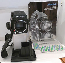 Mamiya M645 Camera +120 Film insert +2 Different Level Finders +Eyecup & Manuals