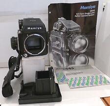 Mamiya M645 Camera +120 Film insert +2 Different Level Finders +Eyecup & Manuals