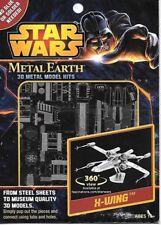 Star Wars X-Wing Fighter Metal Earth 3-D Laser Cut Steel Model Kit #MMS257 NEW