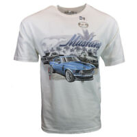 FORD MUSTANG Mens Tee T Shirt American Muscle Car Racing Logo Sleeve Vintage NEW