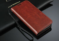 Luxury Real Leather Flip Case Wallet Cover Samsung Galaxy S4 Mini I9190