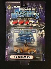 MUSCLE MACHINES 40 WILLYS PICKUP BROWN METAL FLAKE 1/64 DIE CAST 02-18