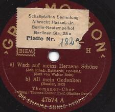 Thomaner-Choeur Günther ramin 1940: réveille-toi, la mienne coeur belle + tout mon Gede