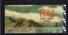 2013 Phish concert ticket stub Hampton Coliseum Trey Anastasio Fall Tour 10/19