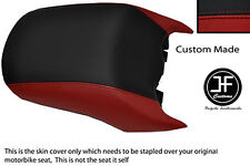 BLACK & DARK RED VINYL CUSTOM FITS BMW R 1200 RT REAR PASSENGER SEAT COVER ONLY