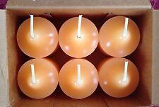 PartyLite Nectartini Votive Candles V06319 New 6 Nib Orange Nectarine