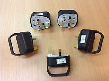 5 x Easy Pull Plug Top 13 Amp Black Fused Easy Removal