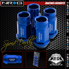FOR SUBARU/NISSAN BLUE 4 X NRG RIM EXTENDED M12X1.25 1.75L WHEEL LUG NUT