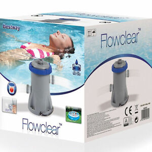 BESTWAY FLOWCLEAR 330gal FILTER PUMP FOR POOLS UP TO 12ft INCLUDED 32mm FITTINGS