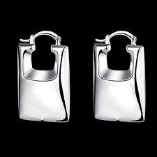 925Sterling Silver Jewelry Lovely Bag Reticule Women Earrings Hoop EP709