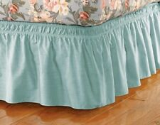 """Wrap Around Bed Ruffle / Bed Skirt Green Color Twin / Full Size 14"""" Brand New"""