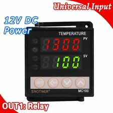 Digital PID Temperature Controllers Regulator Thermostats K/J Sensor Input Relay