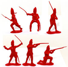 Marx Recast 54mm 1776 British Infantry - 25 in 6 poses - 1990s production