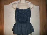 Authentic Arizona Jean Co Denim Peplum Top. ($22.00 Value). New