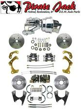 1955-1970 Impala Bel Air Front & Rear Disc Brake Conversion Chrome Booster Kit