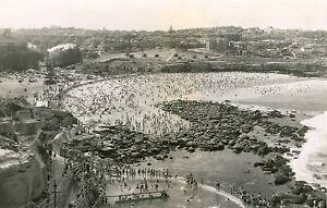 bronte beach nsw australia vintage old photo 1920 black white for glass frame