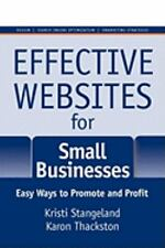 Effective Websites for Small Businesses : Easy Ways to Promote and Profit