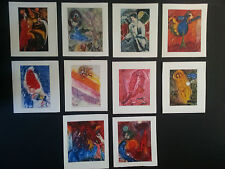 Marc Chagall, vintage folded cards, Maeght Editeur 1959, box set of 20, mint