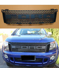 FRONT GRILLE GRILL MATT BLACK ABS FIT FOR FORD RANGER T6 2011-15 WILDTRAK PX XLT