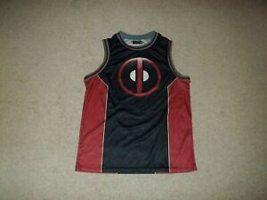 Marvel Deadpool #91 Black Red Adult Medium 38-40 Basketball Jersey Mad Engine