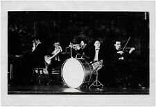 OLD PHOTO MEN TRUMPET VIOLIN PIANO DRUMS FRENCH HORN JAZZ RAGTIME BAND 1920S