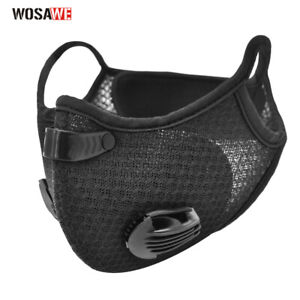Dustproof Cycling Face Covers Shield with Activated Carbon Filter Mouth Scarf