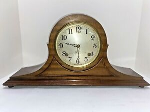 """SESSIONS Antique Wood Chiming Mantle Clock """"HILTON"""" with Key, pendulum"""
