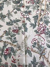 105cm  SANDERSON Caverley chintz linen union curtain upholstery fabric remnant