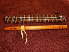 Native American Wood Flute,marked Jose Cabezas with bag. A key.