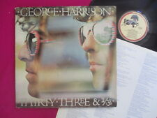 "George Harrison (Beatles) orig. ""Dark Horse"" Lp + insert - Thirty Three & 1/3"