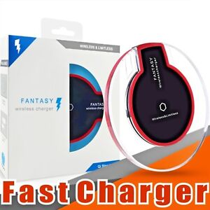 Qi Fast Wireless Charger Charging Pad For iPhone X 8 Plus & Galaxy S8 S9 Note 8