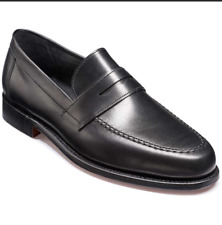 BARKER Mens Black Calf Leather Loafers Shoes F Fitting £325