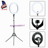 "18"" Ring Light Dimmable Flash Stand 5500K Continuous Lighting Photo Video Stand"