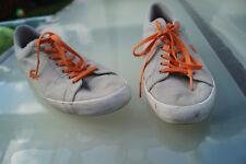 LACOSTE Herren Sommer Schuhe Sneaker Stoffschuhe textil Gr.44,5 grau orange #aa