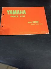 Yamaha GT80F Parts List